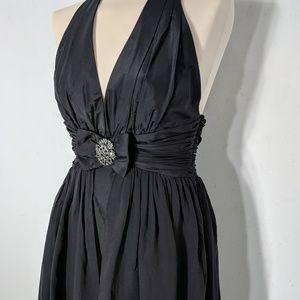 Marc Bouwer Glamit Silk Halter Dress